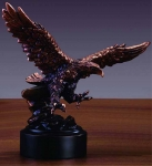 "Bronze Finish 8"" Eagle Landing Sculpture"