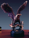 "Bronze Finish 8"" Eagle Sculpture"