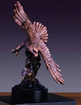 "Bronze Finish 9"" Soaring Eagle Sculpture"