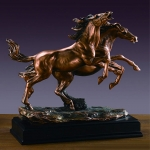 Bronze Finish Double Horses Sculpture