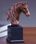 Bronze Finish Horse Head Sculpture