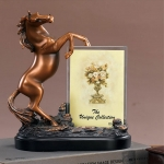 Bronze Finish Horse Sculpture Photo Frame