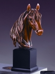Bronze Finish Mustang Horse Head Sculpture