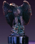 Bronze Finish Small Standing Eagle Sculpture