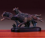 Bronze Finish Wolf Pack Sculpture