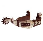 Buckle Style Antique Brown Men's Spur