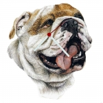 Bulldog Head Shaped Clock