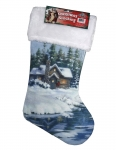Cabin Christmas Stocking 20""