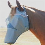 Cashel Crusader Cool Fly Mask Long Nose with Pink Trim