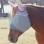 Cashel Crusader Cool Fly Mask Standard with PINK Ears