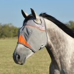 Cashel Crusader Fly Mask Standard NO Ear Orange