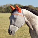 Cashel Crusader Fly Mask Standard EARS Orange