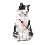 Cat Shaped Clock - Black & White Cat