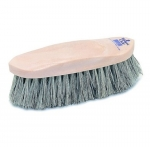 Champion Grey English Dandy Horse Grooming Brush - Plastic Back