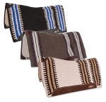 Classic Equine Zone Wool Top Western Saddle Pad-32x34