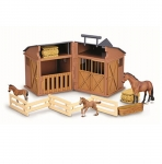 CollectA Stable Playset With 3 Horses & Accessories