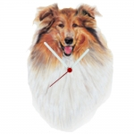 Collie Head Shaped Clock