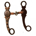 Coronet Antiqued Show Snaffle w/Copper Wire GS Engraving