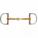 Coronet Copper Mouth Barrel Dee Snaffle Bit