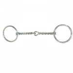 Coronet Loose Ring Twisted Wire Ring Snaffle Malleable Iron Bit
