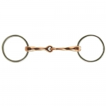 Coronet Slow Twist Copper Mouth Snaffle Bit