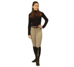 Cotton Naturals Knee Patch Front Zip Breeches