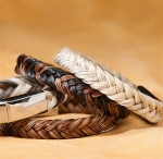 Cowboy Collectibles Braided Horse Hair Solid Tone Bracelets