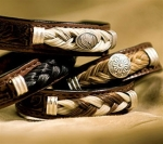 Cowboy Collectibles Horse Hair and Leather Concho Bracelets