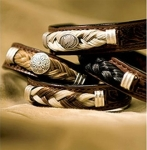 Cowboy Collectibles Horse Hair and Leather Equine Concho Bracelets