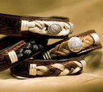 Cowboy Collectibles Horse Hair and Leather Bracelets