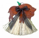 Cowboy Collectibles Horse Hair Buffalo Ornaments