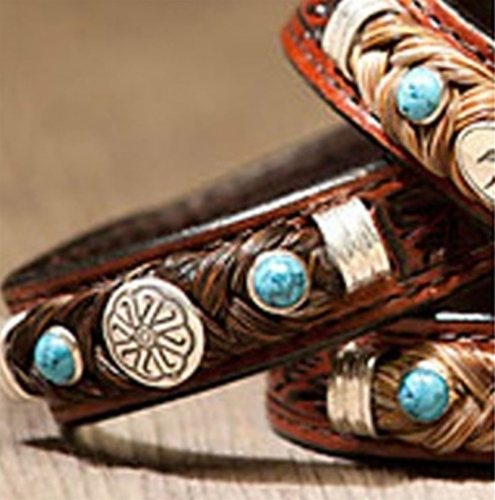 Cowboy Collectibles Horse Hair Concho Bracelets With