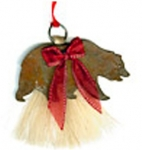 Cowboy Collectibles Horse Hair Grizzly Bear Ornaments