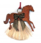 Cowboy Collectibles Horse Hair Prancing Horse Ornaments