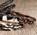 Cowboy Collectibles Horse Hair Two Tone Double Spiral Bracelets