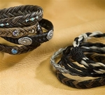 Cowboy Collectibles Horse Hair Woven Beaded Bracelets