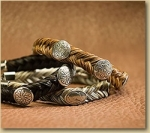 Cowboy Collectibles Horse Hair Woven Concho Bracelets