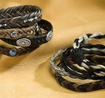 Cowboy Collectibles Horse Hair Woven Gem Stone Bracelets