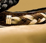 Cowboy Collectibles Two Tone Woven Horse Hair and Leather Bracelets