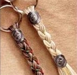 Cowboy Collectibles Woven Horse Hair Key Chains