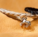 Cowboy Collectibles Woven Horse Hair Horse Charm Bracelets