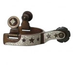 Cut Out Stars Antique Brown Toddler Spur