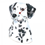 Dalmatian Head Shaped Clock