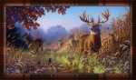 Deer Scene Welcome Mat