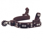 Diamond and Stud Antique Brown Men's Spur