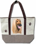 Dog Breed Tote Bag - Afghan