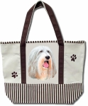 Dog Breed Tote Bag - Bearded Collie