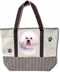 Dog Breed Tote Bag - Bichon Frise