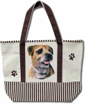 Dog Breed Tote Bag - Border Terrier