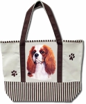Dog Breed Tote Bag - King Charles Cavalier